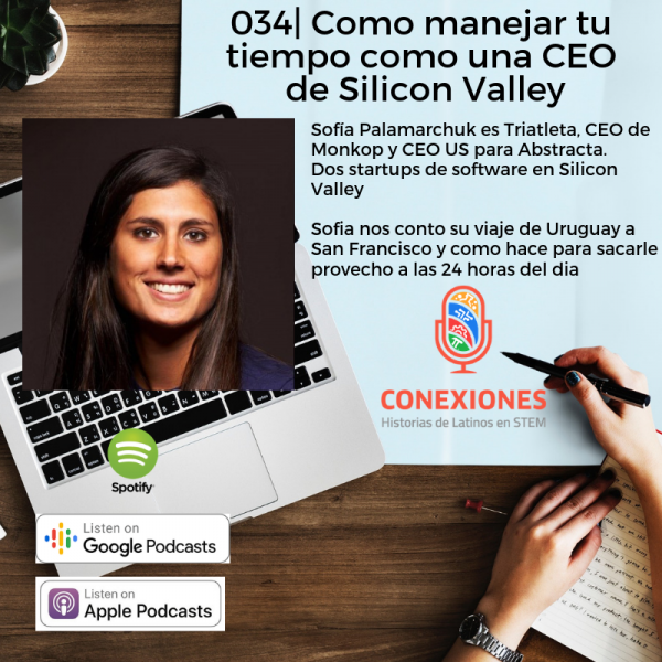 Como Manejar tu tiempo como una CEO de Silicon Valley: Sofia Palamarchuk, CEO US @ Abstracta, CEO @ Monkop | #34
